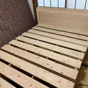 ヒノキ合板ベッド 納品設置